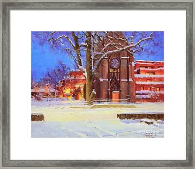 Winter Lorreto Chapel Framed Print by Gary Kim