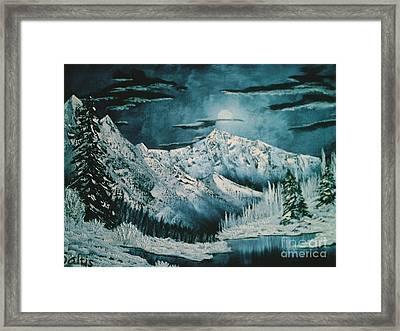 Winter Moon 2 Framed Print by Jim Saltis