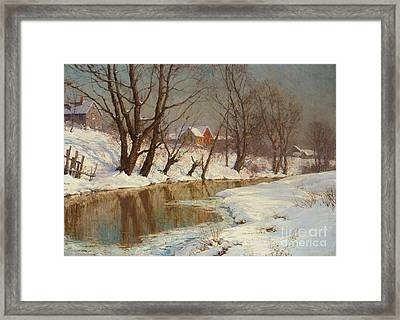 Winter Morning Framed Print by Walter Launt Palmer