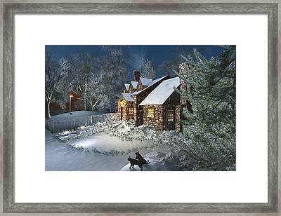 Winter Night Framed Print by Mary Almond