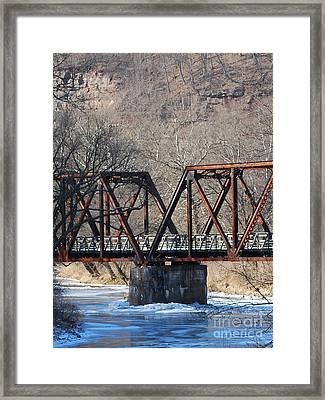 Winter On Knapps Creek Framed Print by Randy Bodkins