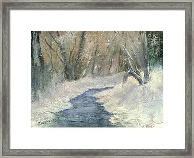 Winter On Stormcreek Framed Print by Gail Kirtz