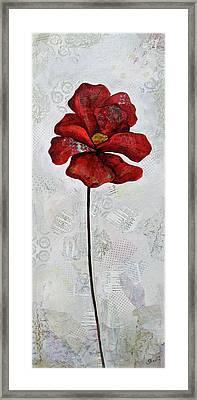 Winter Poppy I Framed Print by Shadia Derbyshire