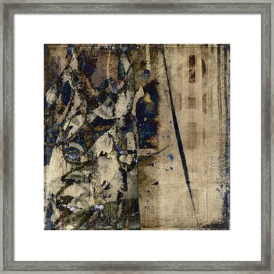 Winter Rains Series Six Of Six Framed Print by Carol Leigh