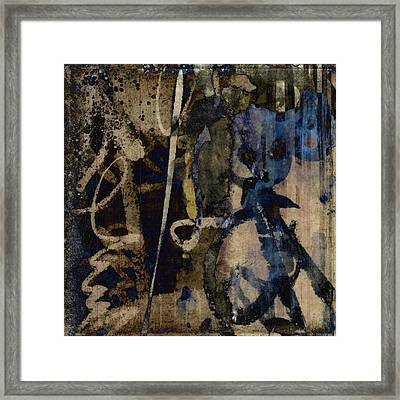 Winter Rains Series Three Of Six Framed Print by Carol Leigh
