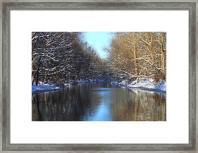 Winter River Framed Print by Frank Romeo