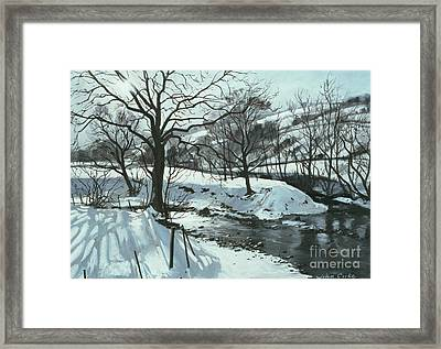 Winter River Framed Print by John Cooke