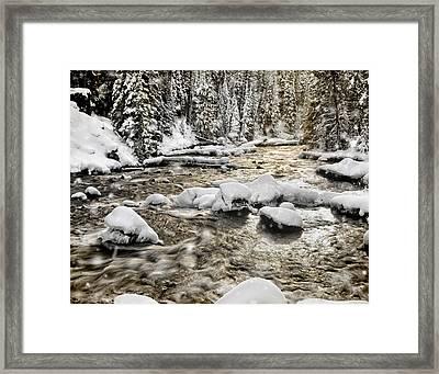 Winter River Framed Print by Leland D Howard