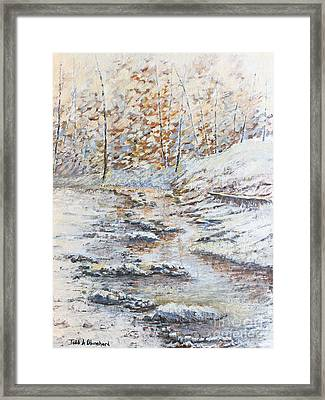 Winter River Framed Print by Todd A Blanchard