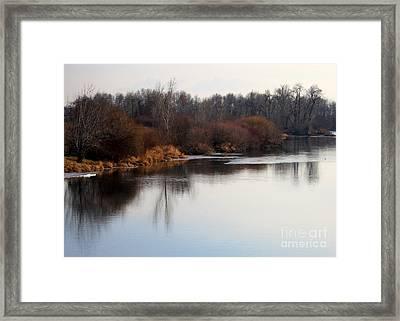 Winter Riverbank Framed Print by Carol Groenen