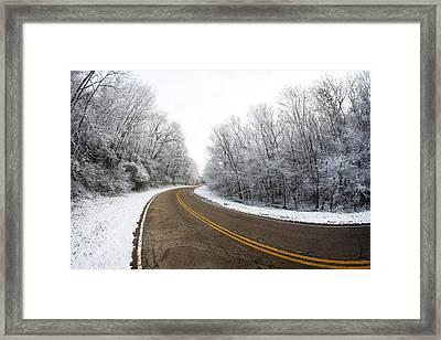 Winter Road Framed Print by Todd Klassy