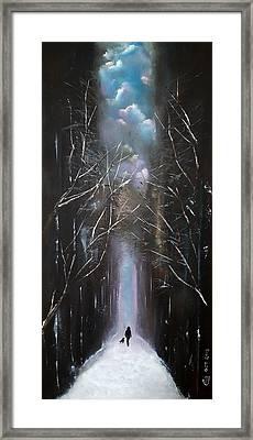 Winter Romance Framed Print by Herbert Chow