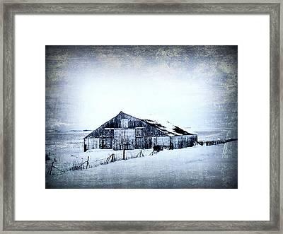 Winter Scene Framed Print by Julie Hamilton