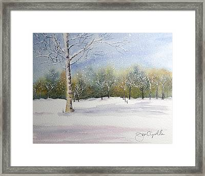 Winter Silence Framed Print by Jan Cipolla