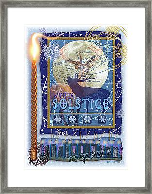 Winter Solstice Framed Print by Ernestine Grindal