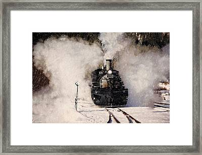 Winter Steam At Rockwood Colorado Framed Print by Ken Smith