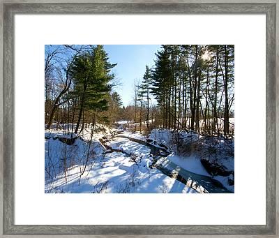 Winter Stream  Framed Print by Tim Fitzwater