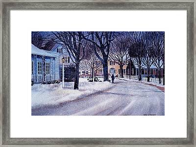 Winter Stroll Framed Print by Karol Wyckoff