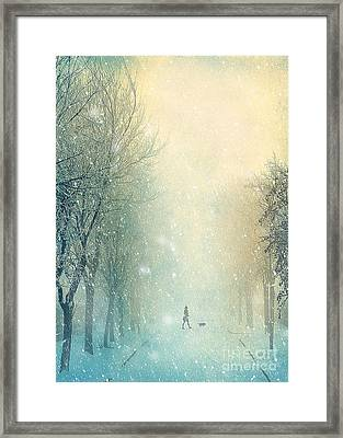Winter Stroll Framed Print by Svetlana Sewell