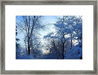 Winter Sunrise II Framed Print by Dimitri Meimaris