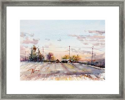 Winter Sunrise On The Lane Framed Print by Judith Levins