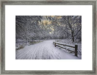 Winter Sunrise Framed Print by Sebastian Musial