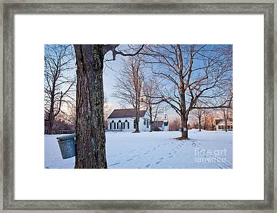 Winter Sunset In New Salem Framed Print by Susan Cole Kelly