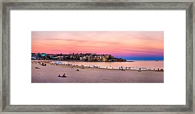 Winter Sunset Over Bondi Framed Print by Az Jackson