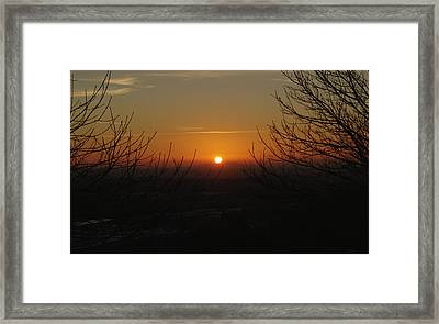 Winter Sunset Over Hednesford Framed Print by Adrian Wale