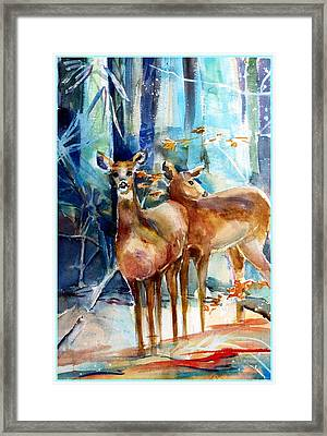 Winter Travelers Framed Print by Mindy Newman