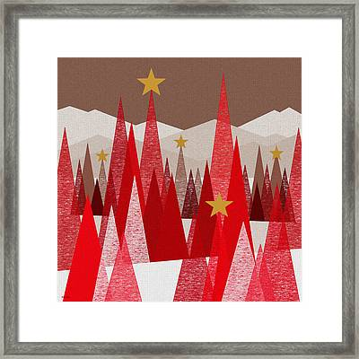Winter Framed Print by Val Arie