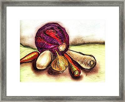 Winter Vegetables  Framed Print by Joely  Rogers