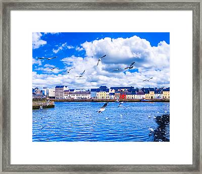 Winter View From The Claddagh In Galway Framed Print by Mark E Tisdale