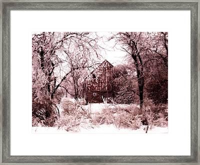 Winter Wonderland Pink Framed Print by Julie Hamilton
