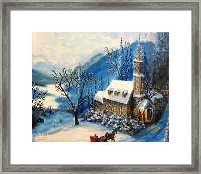 Winter Worship Framed Print by Gavin Kutil