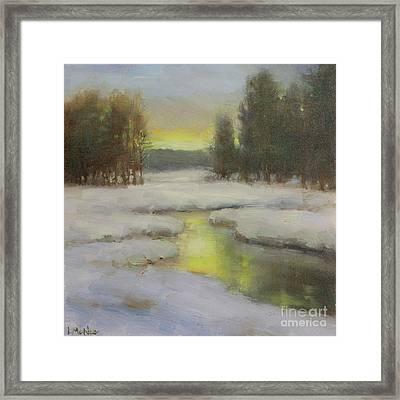 Winter's Glow Framed Print by Lori McNee