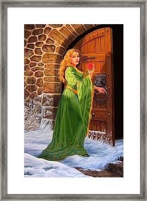 Winter's Last Rose Framed Print by Pat Lewis