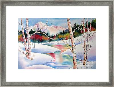 Winter's Light Framed Print by Deborah Ronglien