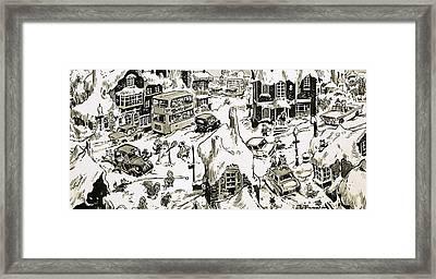Winterscape Framed Print by Jesus Blasco