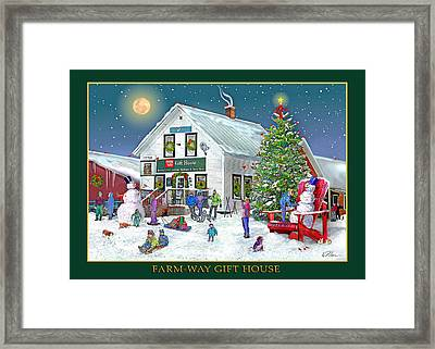 Wintertime At Farmway In Bradford Vermont Framed Print by Nancy Griswold