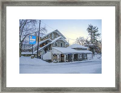 Wintertime Haverford Station Framed Print by Bill Cannon