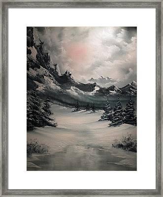 Wintery Mountain Framed Print by John Koehler