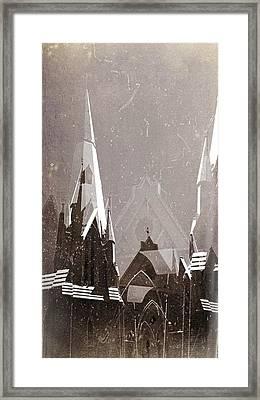 Wintry Church Framed Print by AlyZen Moonshadow