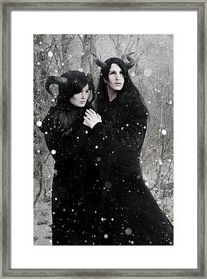 Wintry Wind Framed Print by Cambion Art