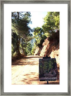 Wip High In The Hills Framed Print by Yvonne Ayoub