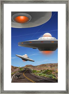 Wip You Never Know What You Will See On Route 66 Framed Print by Mike McGlothlen