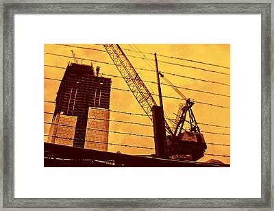 Wired Freedom Framed Print by Alex AG