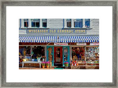 Wiscasset General Framed Print by Susan Cole Kelly