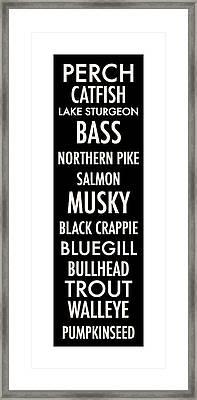 Wisconsin Fish Framed Print by Geoff Strehlow