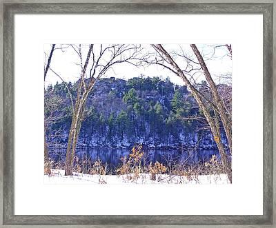 Wisconsin River 3 Framed Print by Dave Dresser